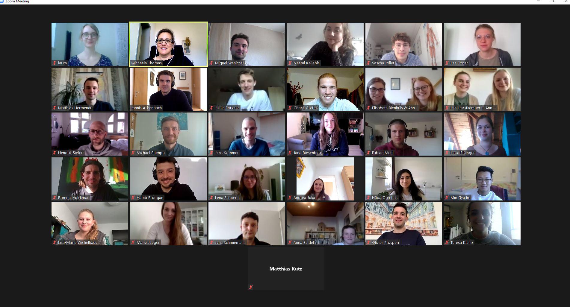 ZOOM-Meeting der Skills-TutorInnen 3